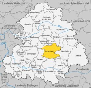 Karte von Rudersberg