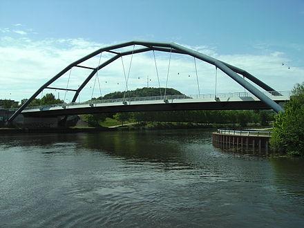 Bild von Saarbrücken: Brücke über die Saar an der Ostspange