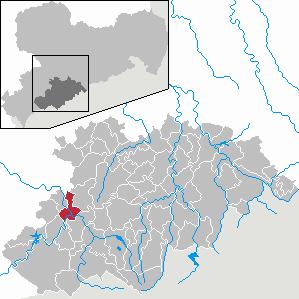 Karte von Aue (Sachsen)