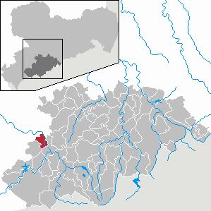 Karte von Bad Schlema