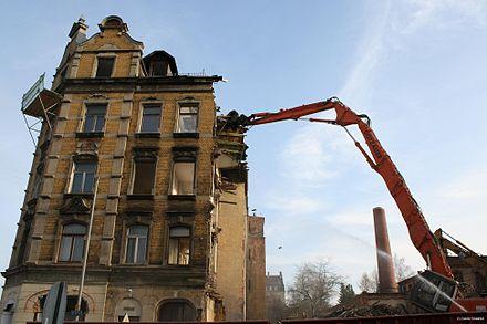 Bild von Chemnitz: Abriss eines Hauses in Chemnitz