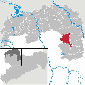 Karte von Dahlen (Sachsen)