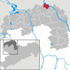Karte von Dommitzsch