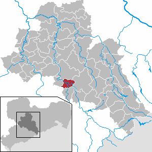 Karte von Flöha