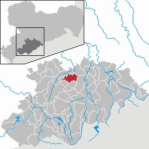 Karte von Gelenau/Erzgeb.
