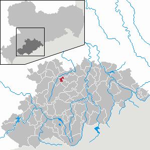 Karte von Gornsdorf