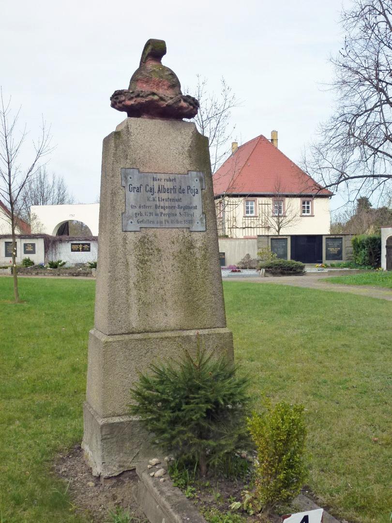 Bild von Großpösna: Denkmal in Seifertshain zur Erinnerung an Graf Alberti di Poja