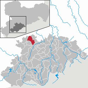 Karte von Jahnsdorf/Erzgeb.