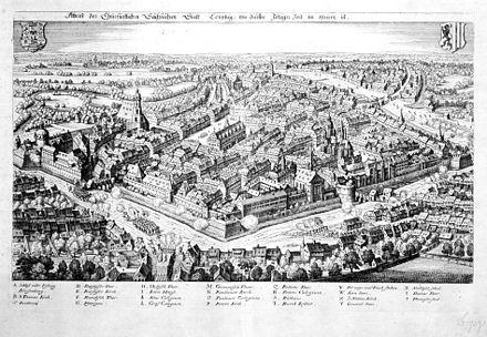 Bild von Leipzig: Leipzig während der Belagerung durch Heinrich von Holk 1632
