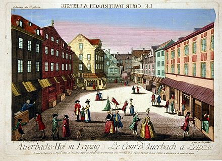 Bild von Leipzig: Auerbachs Hof 1778