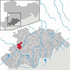 Karte von Lößnitz (Erzgebirge)