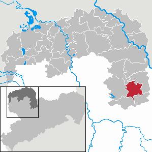 Karte von Oschatz