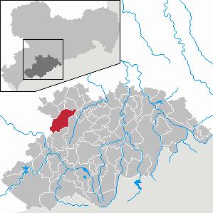 Karte von Stollberg/Erzgeb.
