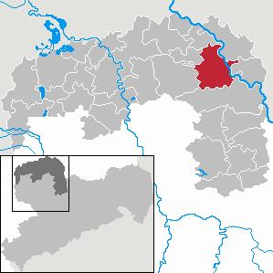 Karte von Torgau