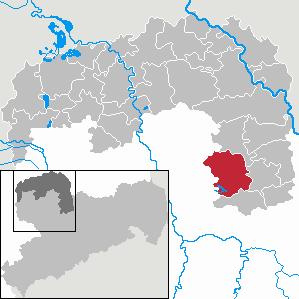 Karte von Wermsdorf