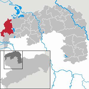 Karte von Wiedemar
