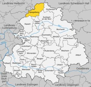 Karte von Spiegelberg
