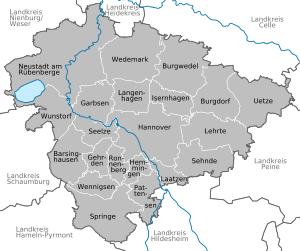 Karte von Region Hannover