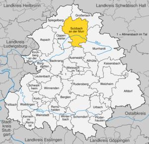 Karte von Sulzbach an der Murr