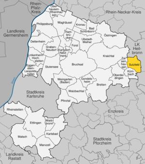 Karte von Sulzfeld (Baden)