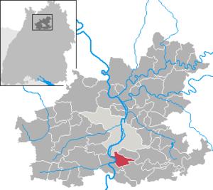 Karte von Talheim (Kreis Heilbronn)
