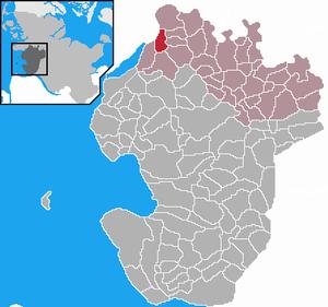 Karte von Groven (Dithmarschen)