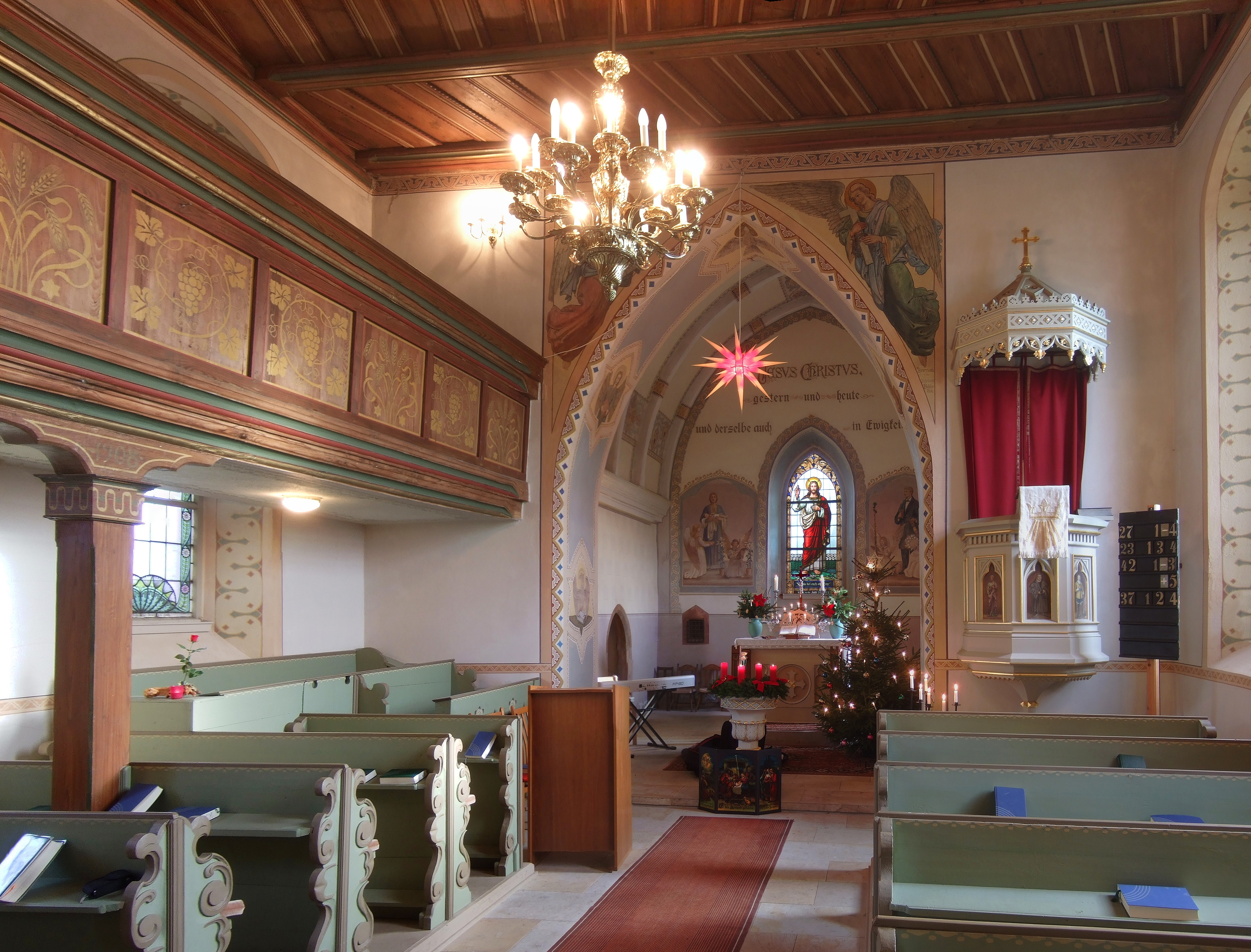 Bild von Zwickau (Landkreis): 2013-12-25 Kirche St. Petri in Kleinbernsdorf