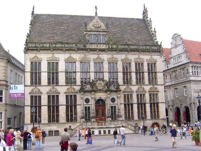 Bild von Bremen: Schütting, Bremer Marktplatz, Haus der Bremer Kaufmannschaft, 2004
