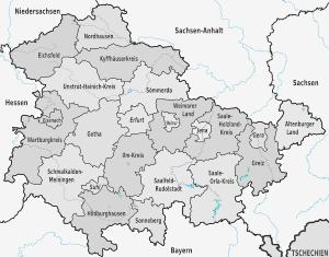 Karte von Thüringen